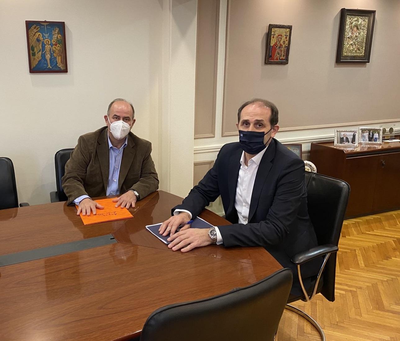 Δήμαρχος Δίου-Ολύμπου Βαγγέλης Γερολιόλιος - Υφυπουργός Οικονομικών Απόστολος Βεσυρόπουλος