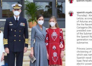 Η βασιλική οικογένεια της Ισπανίας στα εγκαίνια υποβρυχίου