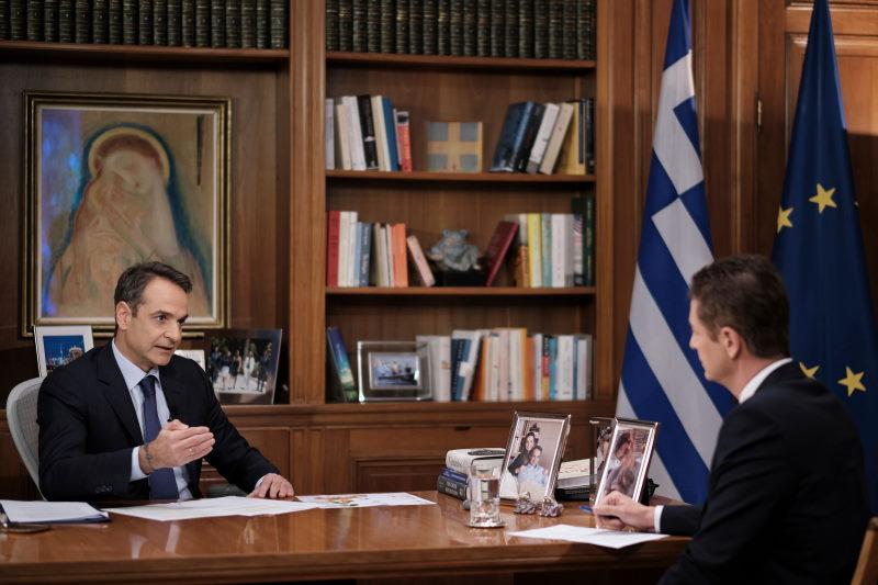 Συνέντευξη του Πρωθυπουργού Κυριάκου Μητσοτάκη στον τηλεοπτικό σταθμό Alpha και τον δημοσιογράφο Αντώνη Σρόιτερ