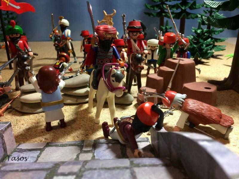 Η μάχη της Αλαμάνας σε διόραμα με playmobil