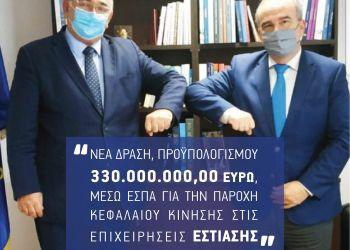 Νέα δράση, προϋπολογισμού 330 εκατομμυρίων ευρώ, για την παροχή κεφαλαίου κίνησης