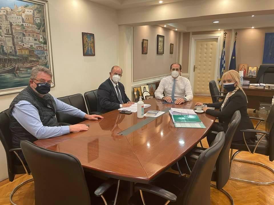 Συνάντηση Εργασίας Της Αντιπεριφερειάρχη Πιερίας Και Του Δημαρχου Διου – Ολυμπου