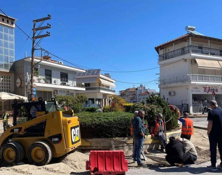 Ανακατασκευή του κυκλικού κόμβου στην συμβολή των οδών 7ης Μεραρχίας & Ν. Πλαστήρα