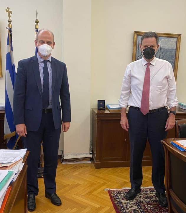 Η Πιερία στο Εθνικό Σχέδιο Ανάκαμψης της συνάντησης του Φ. Μπαραλιάκου με τον Αναπληρωτή Υπουργό Οικονομικών