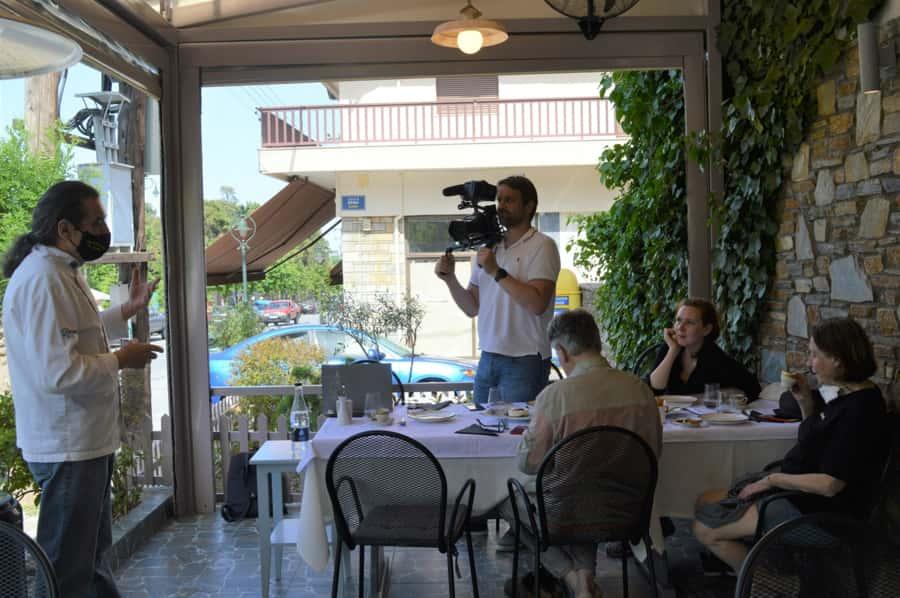 Γερμανοί δημοσιογράφοι στη Νότια Πιερία