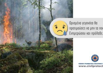 Ημερήσιος Χάρτης Πρόβλεψης Κινδύνου Πυρκαγιών