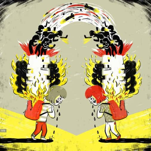 Children Of Israel And Gaza – Σκίτσα Για Τα Παιδιά – Θύματα Της Διαμάχης