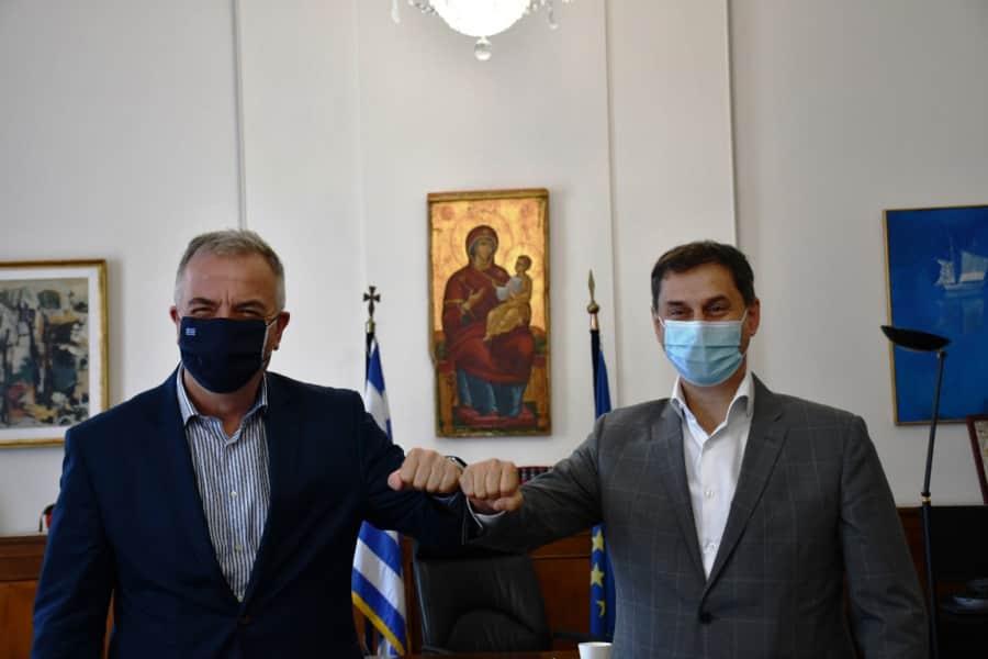Συνάντηση του Υφυπουργού Εσωτερικών (Μακεδονίας – Θράκης) κ. Σταύρου Καλαφάτη με τον Υπουργό Τουρισμού κ. Χάρη Θεοχάρη