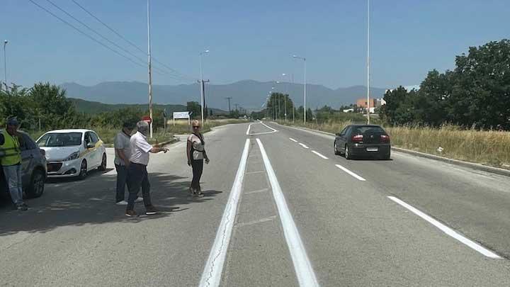 Συντηρείται ο δρόμος προς το Νοσοκομείο Κατερίνης