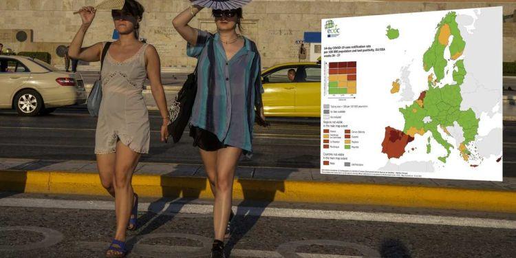 Κορονοϊός – Ecdc: Επιδείνωση Στην Ελλάδα Δείχνουν Οι Νέοι Χάρτες
