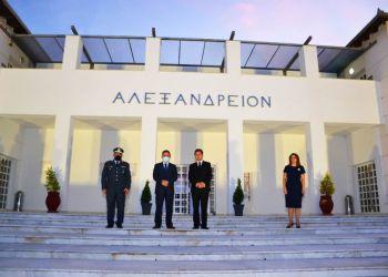 Ο Υφ. Ψηφιακής Διακυβέρνησης Γ. Γεωργαντάς με τον πρόεδρο του Αλεξάνδρειου Δ. Πασχάλη