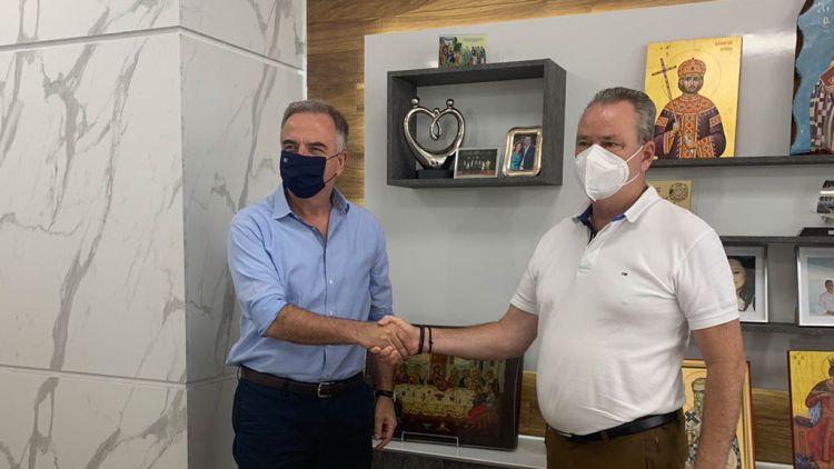 Συνάντηση Του Δημάρχου Κατερίνης Κώστα Κουκοδήμου Με Τον Υφυπουργό Εσωτερικών (Μακεδονίας &Amp; Θράκης) Σταύρο Καλαφάτη