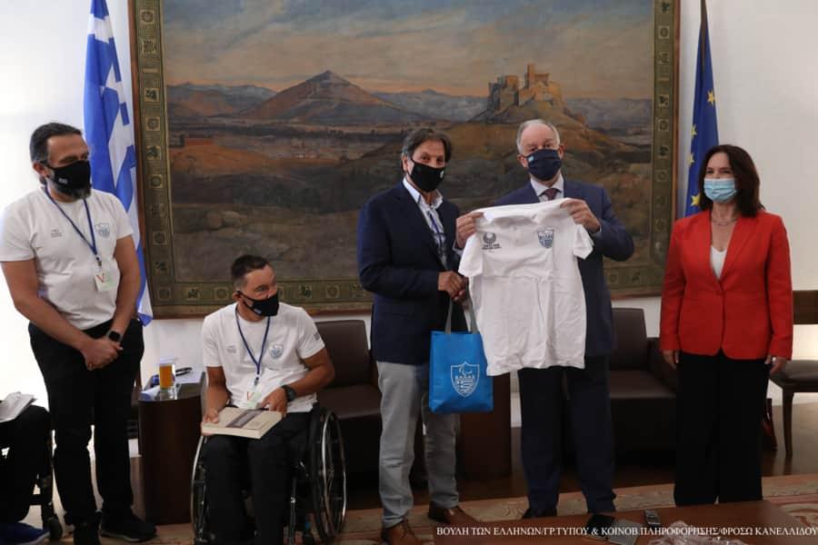 Συνάντηση του Προέδρου της Βουλής με αθλητές μέλη της Εθνικής Αποστολής στους Παραολυμπιακούς του Τόκιο