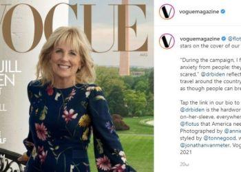Η Τζιλ Μπάιντεν στο εξώφυλλο της Vogue