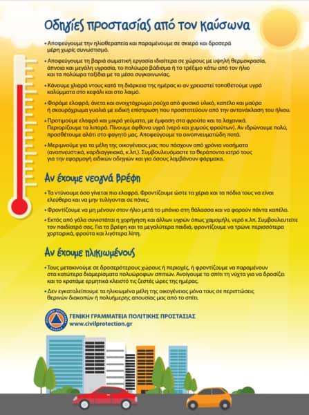 Κλιματιζόμενοι χώροι για την προστασία ευάλωτων πολιτών