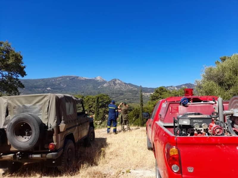 Στρατός και Αστυνομία περιπολούν σε δάση και επίφοβες για πυρκαγιά περιοχές