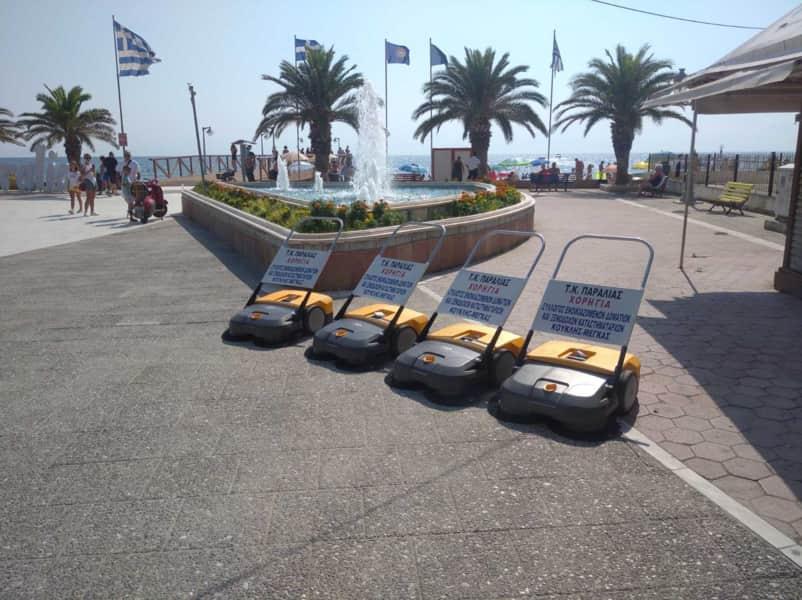 Τέσσερα σύγχρονα μηχανοκίνητα σάρωθρα πεζού χειριστή στην καθημερινή μάχη