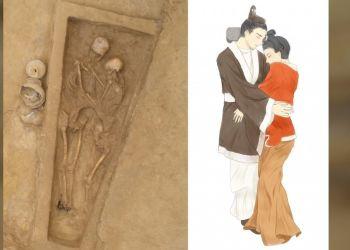 To ζευγάρι που μένει αγκαλιασμένο εδώ και 1.500 χρόνια