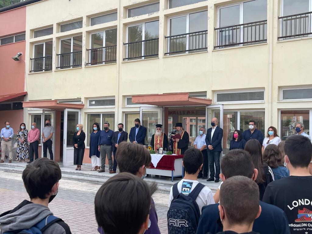 Αγιασμός στο 4ο γυμνάσιο – Λυκειο και το Γυμνάσιο – Λύκειο Κορινού