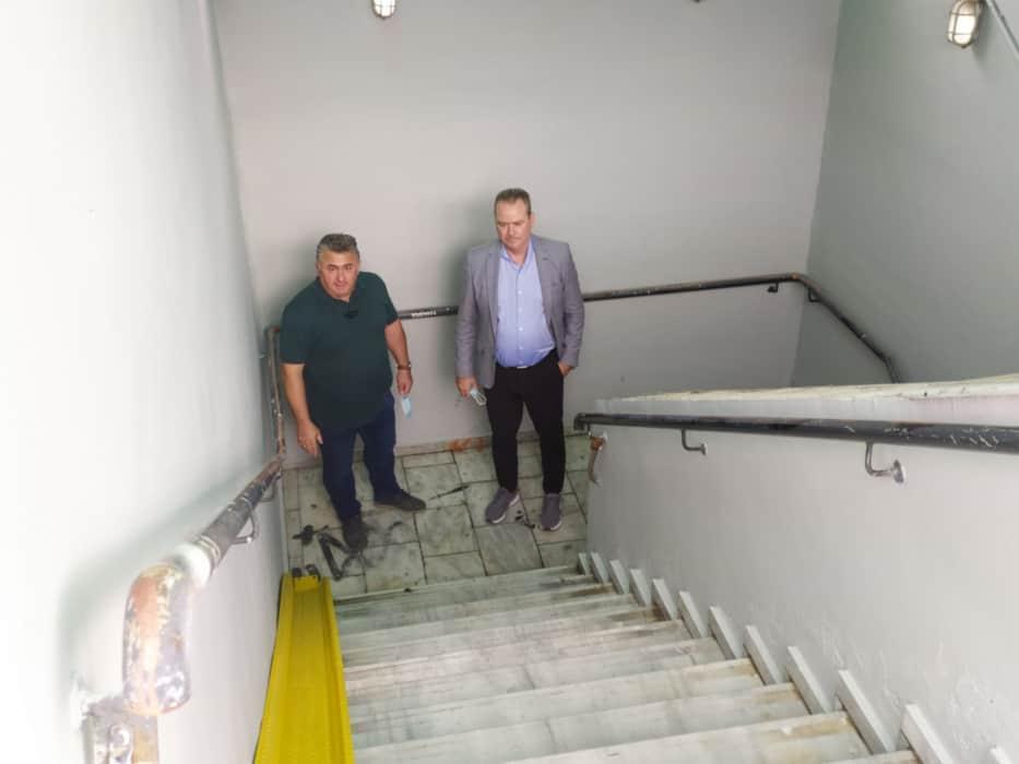 Δήμος Κατερίνης: Τοποθέτηση ράμπας κύλισης ποδηλάτου στην υπόγεια διάβαση του Σιδ.Σταθμού