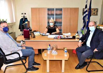 Επίσκεψη του Γενικού Γραμματέα του Υπουργείου Πολιτισμού κ. Γεωργίου Διδασκάλου στην Αντιπεριφερειάρχη Πιερίας