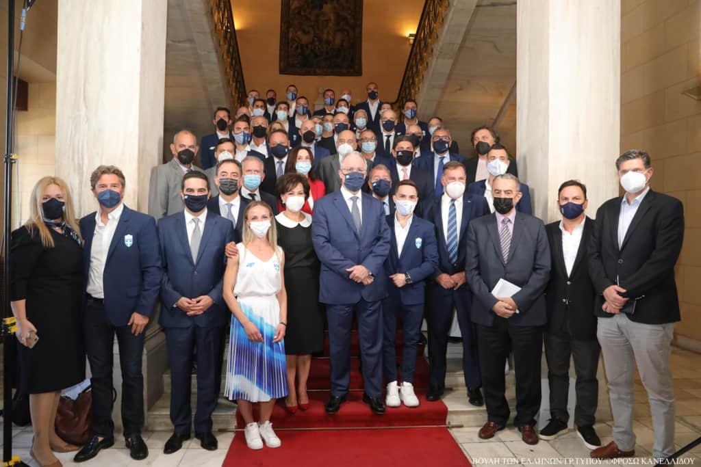 Η Βουλή των Ελλήνων τίμησε τους Ολυμπιονίκες του Τόκιο