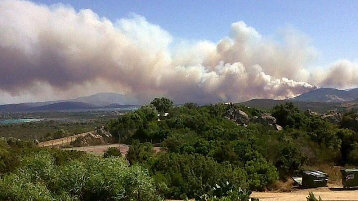 Η ρύπανση του αέρα από τις δασικές πυρκαγιές