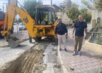 Κατασκευή αγωγών ομβρίων στην οδό Βασιλέως Ηρακλείου