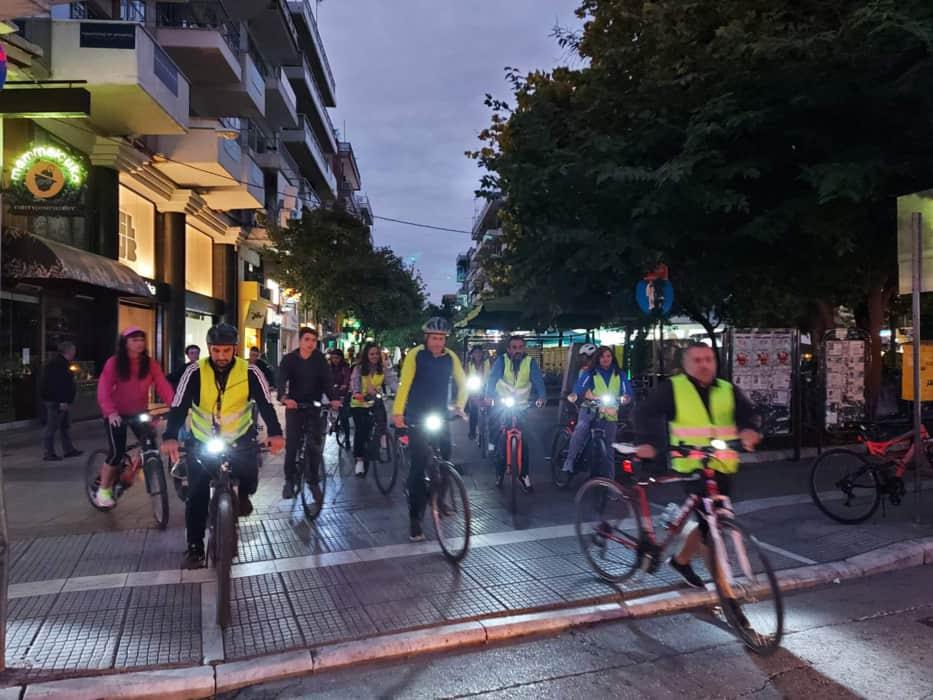 Ποδηλατοβόλτα στους δρόμους της Κατερίνης