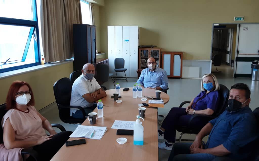Συνάντηση αντιπροσωπείας της Ν.Ε Πιερίας ΣΥΡΙΖΑ ΠΣ και της βουλεύτριας Ε.Σκούφα με τον διοικητή και στελέχη του Γ.Ν Κατερίνης