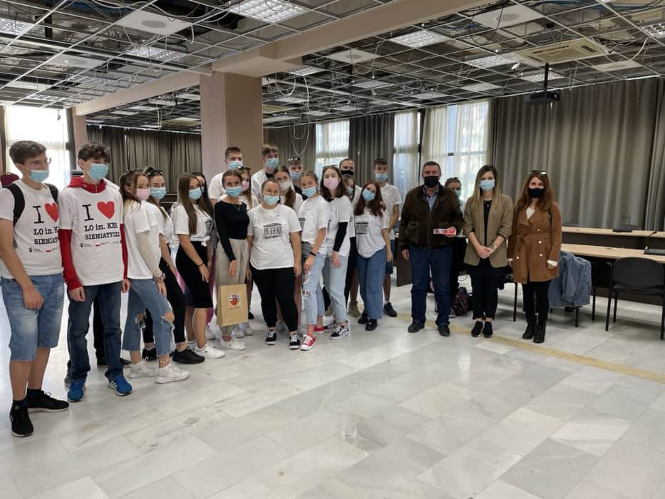 Αποστολή εκπαιδευτικών & μαθητών από την Πολωνία στο Δημαρχείο Κατερίνης