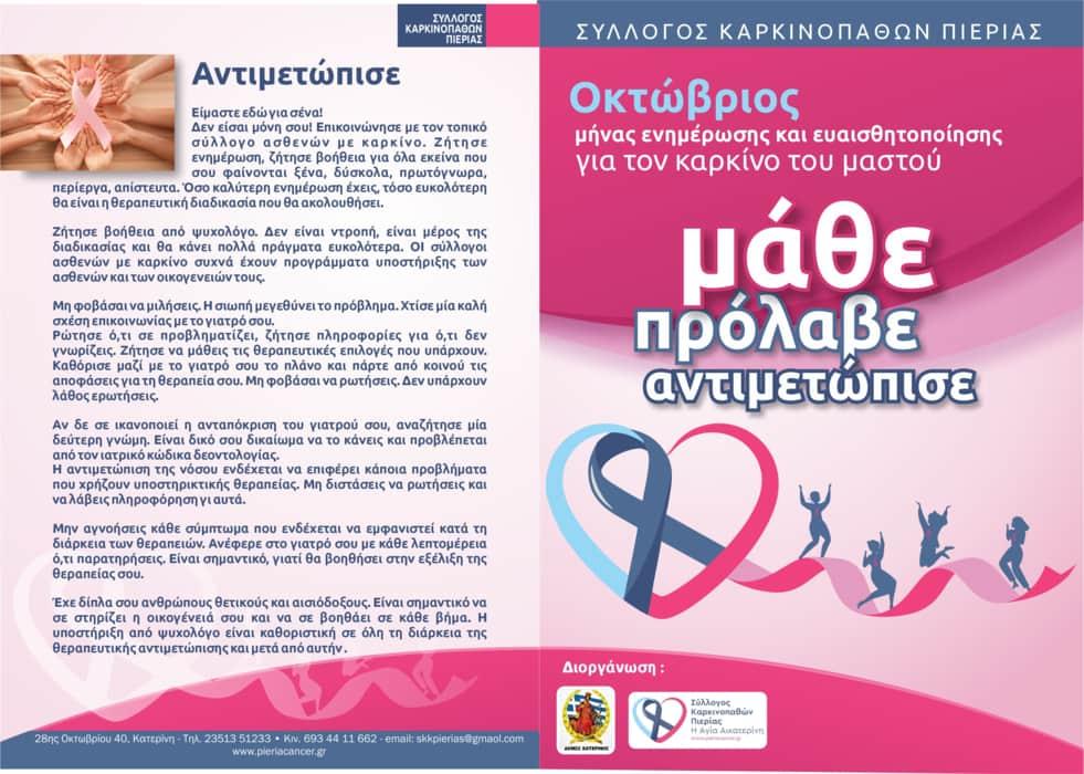 """Δήμος Κατερίνης: Σύλλογος Καρκινοπαθών Πιερίας """"Η Αγία Αικατερίνη"""""""