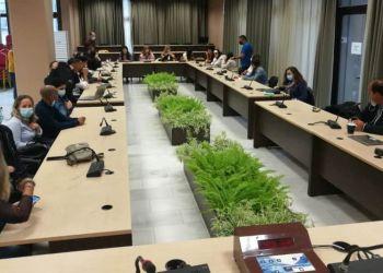 Επίσκεψη στο δημαρχείο Κατερίνης αντιπροσωπείας μαθητών και εκπαιδευτικών από σχολεία της Ευρώπης