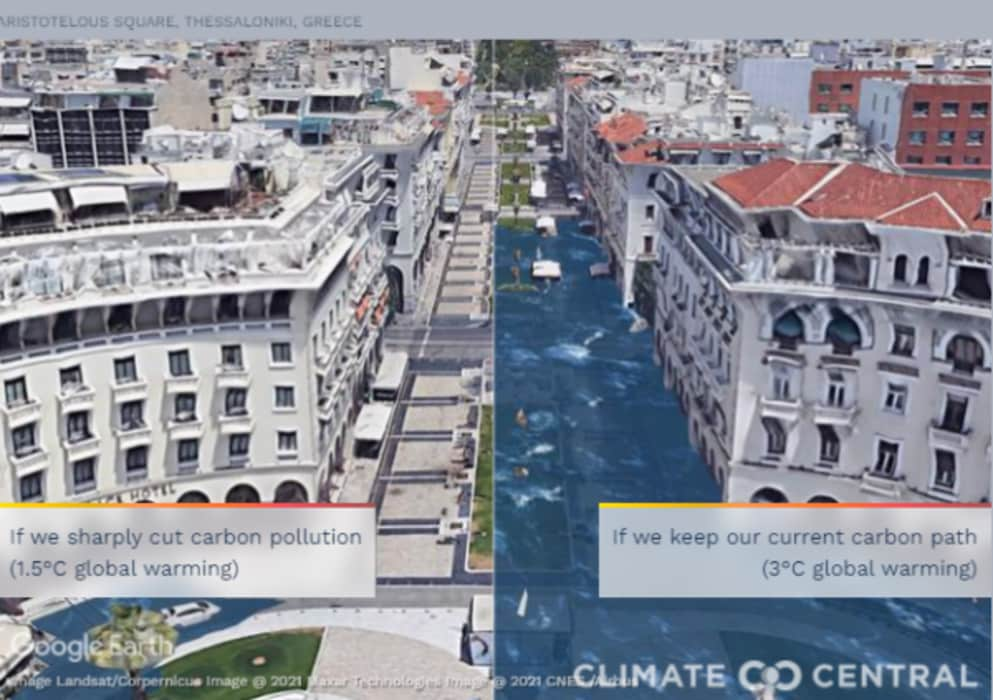 Κλιματική αλλαγή: «Πλημμυρισμένη» η Θεσσαλονίκη