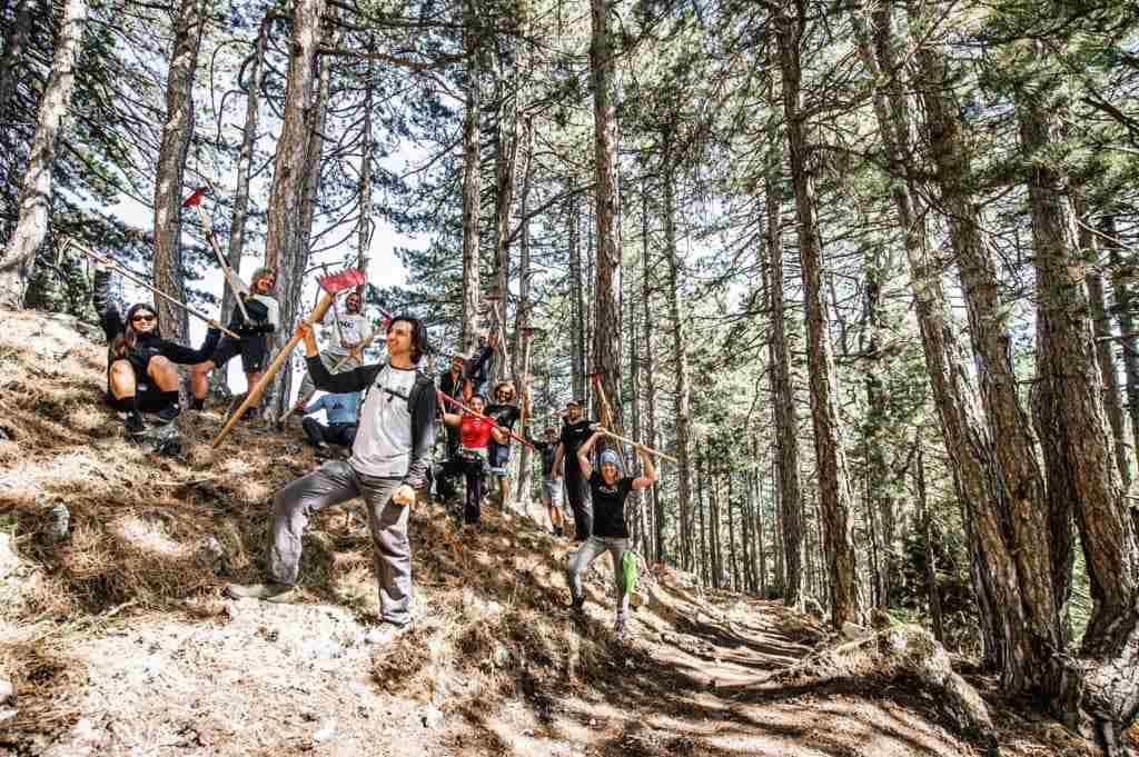 Με επιτυχία ολοκληρώθηκε η «Διεθνής εβδομάδα εθελοντικής κατασκευής και συντήρησης ποδηλατικών μονοπατιών στον Όλυμπο» που διοργάνωσε η Π.Ε. Πιερίας